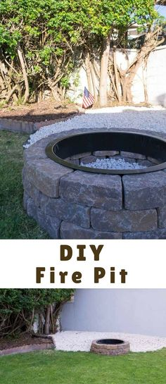 Our DIY Fire Pit for instant backyard appeal was a weekend project that only took a day. It is perfect for summer gatherings and making s'mores with kids! Make A Fire Pit, Diy Fire Pit, Fire Pits, Weekend Projects, Projects To Try, Crafty Craft, Outdoor Entertaining, Life Is Beautiful, Diy Beauty