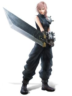Cloud Costume DLC from Lightning Returns: Final Fantasy XIII