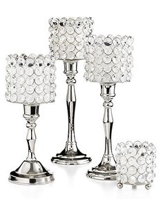 "Leeber Candle Holder, 9.5"" Sparkle Candlestick - Candles & Home Fragrance - for the home - Macy's"