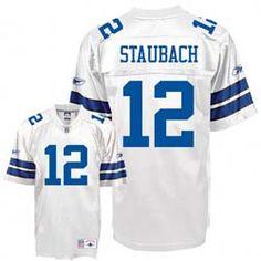 a136aeff91b Dallas Cowboys Roger Staubach Reebok 12 White Premier Jersey White Reebok