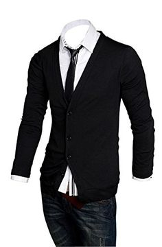 JIUYFFOY® Men's V-Neck Coat Cardigan Sweater (L(US-S), Black) JIUYFFOY® http://www.amazon.com/dp/B013G75DSC/ref=cm_sw_r_pi_dp_M7V4vb0ZNKNP5