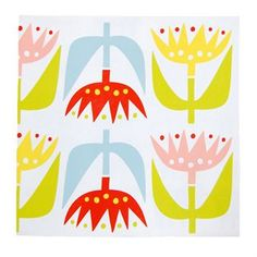 Tulip paper napkin from Klippan Yllefabrik by Lotta Glave Nordic Kitchen, Paper Napkins, Pastel Colors, Tulips, Scandinavian, Summertime, Decoupage, Kitchen Decor, Textiles