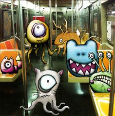 Thanks to Nancy L. - for introducing me to this artist!  After Midnight by kudu-lah / Awesome Critter Artwork featuring Monster like characters based in New York City