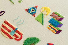 Makers, Dreamers - handmade embroidery by MaricorMaricar , via Behance