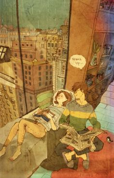 Korean artist Puuung has created heatwarming ongoing illustration series that captures the sweet moments of a couple in love, depicting their love through everyday activities like cooking and spending birthdays together. Love Is Sweet, What Is Love, Couple Illustration, Illustration Art, Puuung Love Is, Ah O Amor, Art Amour, Illustration Mignonne, What's True Love