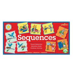 Sequences activity helps to build logical ordering and executive function skills. Game also helps children improve their memory and recall through verbal skills, and predictive reading. A wonderful ed