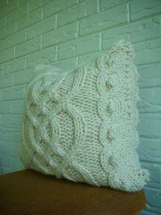knit pillow cover $82
