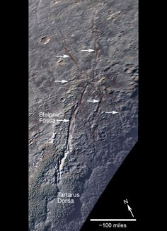 The spider of Pluto gives up its secrets The spider of Pluto gives up its secrets. The unusual pattern of fractures is caused by localised stress beneath the surface of the dwarf planet, scientists believe.