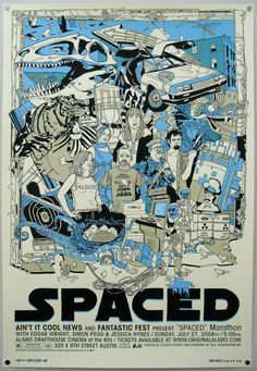 Spaced!  Have you seen Spaced?  If not, stop what you are doing and get on it.