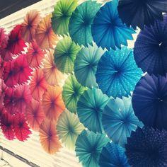 DIY ~ paper accordion flowers