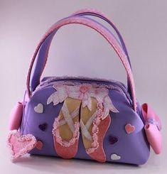 Ballerina Little Girl Purse Foam Crafts, Baby Crafts, Crafts For Kids, Ballet, Baby Memories, Girls Bags, Kids Cards, Bag Making, Baby Dolls
