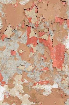 Peeling Paint Original by Ella Doran - Pink - Wallpaper : Wallpaper Direct