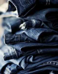 stacked denim.