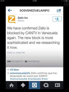 Freedom of Speech?? ... No newspapers, no reporters, no informative tv stations (besides government-sponsored), no internet communication... #iamyourvoicevenezuela