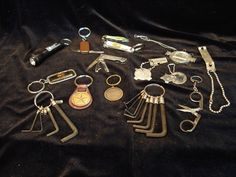 Vintage Key Chains Lot of 14 Screwdrivers, Clippers, Scissors, Wrenches | eBay