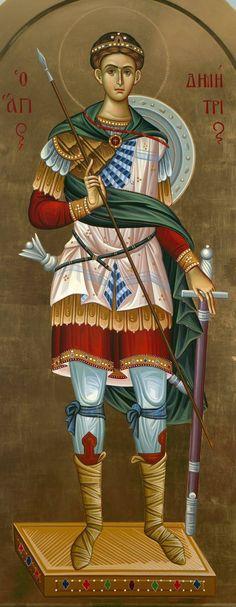 Άγιος Δημήτριος / Saint Demetrius Greek Icons, Byzantine Icons, Orthodox Christianity, Orthodox Icons, Sculptures, Wonder Woman, Superhero, People, Inspiration