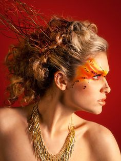 """""""Fire"""" Model: Kelly Taken by Lopshire Photograph. This is so inspiring! Cristin Rose Hair and Makeup Artistry"""