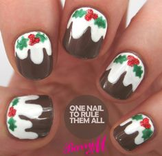 Tutorial Tuesday: Christmas Pudding - One Nail To Rule Them All