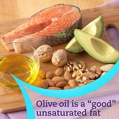 """How Fats Fit Into a Diabetic Diet -  Good"""" fats are unsaturated. Unsaturated fats don't increase your risk of heart disease. Monounsaturated fats, found in olive oil and avocados, and omega-3 fats, found in salmon and walnuts, are especially good for heart health. For everyday cooking, use canola and olive oils.  """"Bad"""" fats are trans fats and saturated fats, which can increase your risk of heart disease. Found in red meats, full-fat dairy products, and baked goods, saturated fat causes total…"""