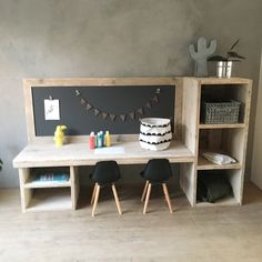 Study Room Design, Boys Room Design, Boy And Girl Shared Bedroom, Kids Bedroom, Kids Table With Storage, Sweet Home Design, Home Office Decor, Home Decor, Baby Room Decor