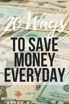 20 Ways to Save Money Everyday. I don't coupon. I couldn't tell you the last time I used one, but there are tons of ways to save money on a budget without scissors and paper cuts. So here are 20 tried and true ways to save big money every, single, day. Best Money Saving Tips, Money Saving Challenge, Ways To Save Money, Money Tips, Saving Money, Savings Challenge, Money Hacks, Frugal Living Tips, Frugal Tips