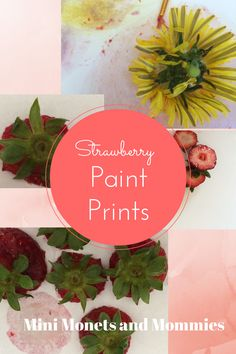 Mini Monets and Mommies: Kids' Nature Art: Strawberry Paint Print