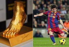 Pure Gold Replica of Lionel Messi's Left Foot on sale for $5.25M - CapeLux.com