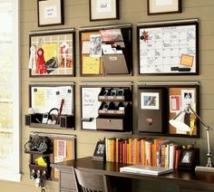 Great idea for a home office from Pottery Barn