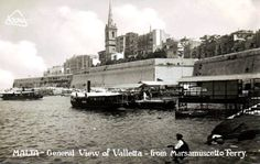 Marsamxett port in the gone by days. Malta