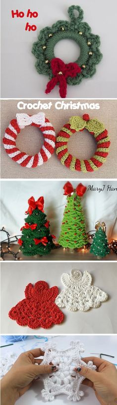 Christmas is near. Thats a bit fancy and cozier way of saying that winter is coming. Crafters such as you and we should already start working on their winter holiday projects. Crochet Christmas Ornaments, Christmas Crochet Patterns, Holiday Crochet, Santa Ornaments, Noel Christmas, Crochet Gifts, Christmas Projects, Holiday Crafts, Christmas Decorations