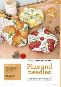 Pins And Needles (Amanda Gregory) From The World of Cross Stitching N°244 August 2016 1 of 4