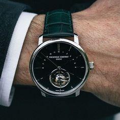 Frederique constant Slimline tourbillon manufacture #beautifulmenswatches #frederiqueconstant #watch #swiss #luxury  @frederiqueconstant