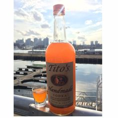 Pier6 Boston infused Tito's Handmade Vodka with candy corns for a delicious Halloween treat!