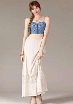 Embroidered Maxi Skirt – Truly BoHotique