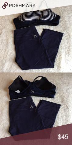 d6120777eb4 New Balance for J. Crew Navy   White Set EUC Set of sports bra and