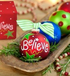Let everyone know that you still believe in Santa with this precious Believe Ornament. Personalize it and create a meaningful keepsake. All ornaments come boxed and tied with a coordinating ribbon making them the perfect gift for anyone.