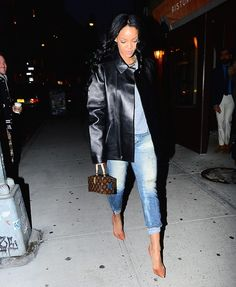 "rihannainfinity: November 7: Rihanna leaving ""Sant Ambroeus"" restaurant in Soho, NY"