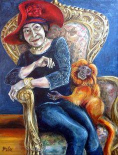 "Saatchi Art Artist Clara de Bobes; Painting, ""Editta and Fred"" #art Saatchi Art, Oil On Canvas, Original Paintings, Artist, Paintings, Artists"