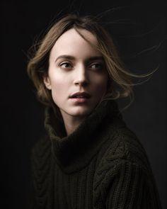 Portrait of @linda_holm. Hair and makeup by @lovelobeauty #pentax645z by chrisknightphoto