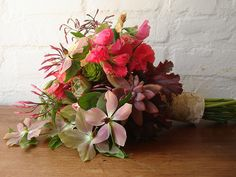 Birch-wrapped bouquet | Studio Choo