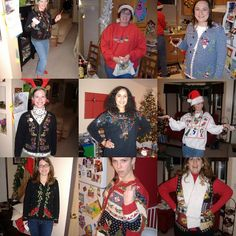 Ugly Sweater Christmas Party...must do for our get together 's this year!