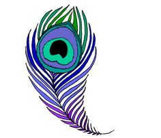 Peacock Feather Coloring Page | very large peacock feather fabric by beesocks on Spoonflower - custom ...