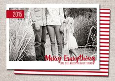 Photo Christmas Card Holiday Card: PRINTABLE by cardsetcetera