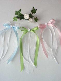 Hochzeitsdeko - Hochzeit Antennenschleifen - ein Designerstück von blumenamschloss bei DaWanda