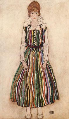 Edith Schiele by Egon Schiele