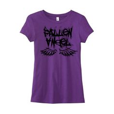 Gothic T-Shirt Pastel Grunge Tee Fallen Angel Shirt Pastel Goth... ($20) ❤ liked on Polyvore featuring tops, t-shirts, shirts, purple, women's clothing, grunge t shirts, purple t shirt, screen print t shirts, t shirts and gothic t shirts