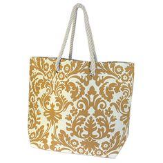 The Royal Standard Damask Tote Bag - Gold or Green