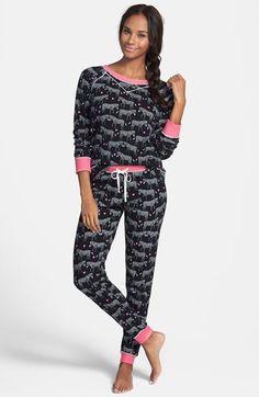 kensie Cozy Appliqué Thermal Pajamas