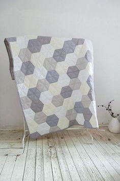 Modern Patchwork Quilt Patterns Contemporary Patchwork Quilts Modern Patchwork Quilt Designs Zakkstudio Quilt In Pastel Hexagons Modern Quilt Cotton