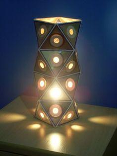 Luminária feita com CDs: Luzalaser